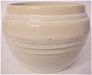 "PACIFIC POTTERY BANDED WHITE 6"" JARDINIERE! (Image1)"