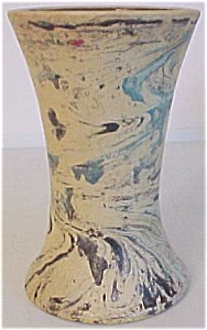 Bauer Pottery Matt Carlton Swirl Decorated  Vase (Image1)