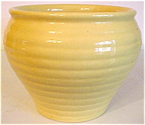 Bauer Pottery Ring Ware Yellow Jardiniere (Image1)