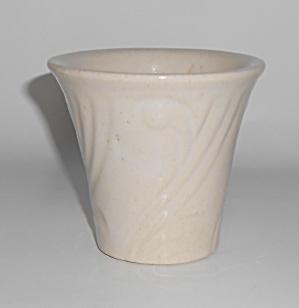 """PACIFIC POTTERY ART DECO 3.5"""" WHITE FLOWER POT (Image1)"""