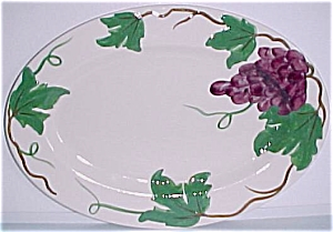 Pacific Pottery Grape Decorated Platter