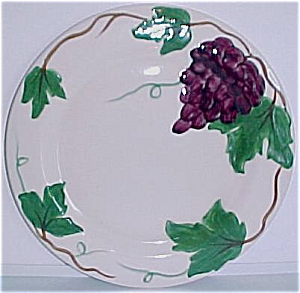 Pacific Pottery Grape Decorated Dinner Plate