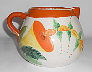 BAUER POTTERY MATT CARLTON DECORATED PITCHER! (Image1)