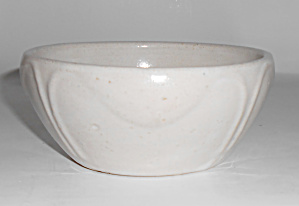 Zanesville Stoneware Pottery White #b2 Art Bowl Mint