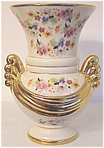 ABINGDON POTTERY HUGE FLORAL GOLD DECORATED VASE! (Image1)
