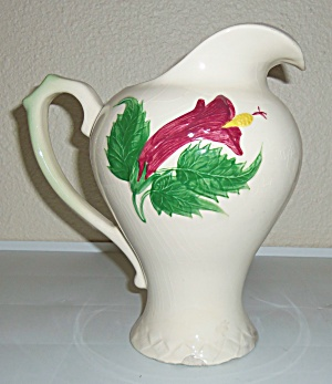PACIFIC POTTERY HIBISCUS ICE WATER PITCHER! (Image1)