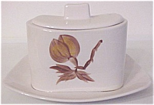 CALIFORNIA CERAMICS ORCHARD WARE FLORAL GRAVY BOWL (Image1)
