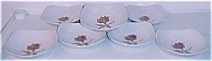 CALIFORNIA CERAMICS ORCHARD WARE FLORAL SET/8 BOWLS! (Image1)