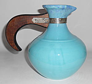 Franciscan Pottery El Patio Glacial Blue Drip Carafe