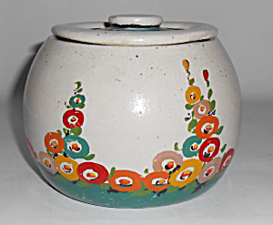 Bauer Pottery Early Matt Carlton Decorated Bean Pot! (Image1)