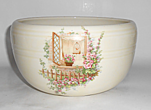COORS POTTERY OPEN WINDOW THERMO PORC PUDDING BOWL! (Image1)