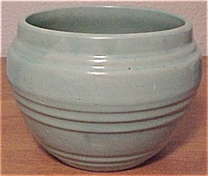 "Pacific Pottery Art Deco 5"" Green Flowerpot"
