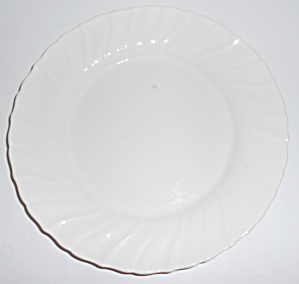 Franciscan Pottery Coronado Gloss White Lunch Plate!  (Image1)