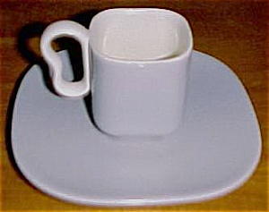 FRANCISCAN POTTERY METROPOLITAN DEMI CUP/SAUCER SET! (Image1)