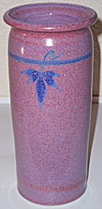 "BRUNING STUDIO POTTERY SEATTLE 9-1/4"" PURPLE VASE! (Image1)"