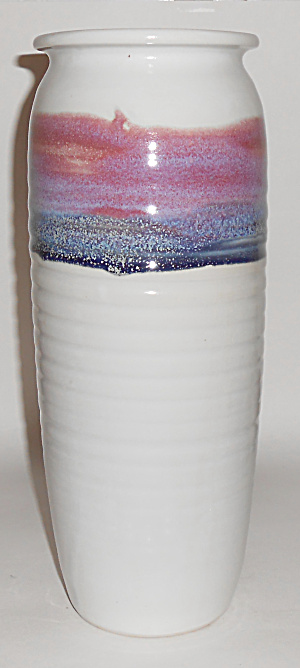BRUNING STUDIO POTTERY SEATTLE 13 WHEEL THROWN VASE! (Image1)