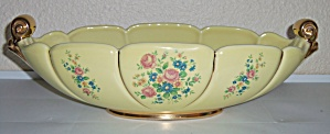 ABINGDON POTTERY #532 YELLOW/FLORAL/GOLD ART BOWL! (Image1)