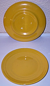 GARDEN CITY POTTERY RING WARE YELLOW BREAD PLATE! (Image1)