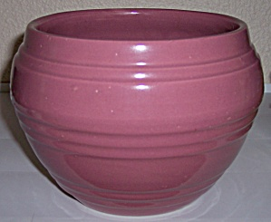 "PACIFIC POTTERY BANDED ROSE 7"" JARDINIERE! (Image1)"