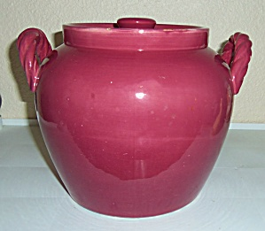 Coors Pottery Rosebud Red Cookie Jar W/lid