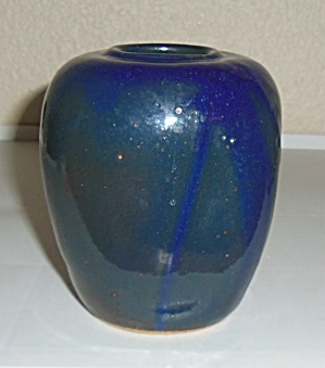 BRUNING POTTERY SEATTLE HEAVY WHEEL THROWN VASE! (Image1)