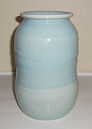BRUNING POTTERY SEATTLE WHEEL THROWN CELADON VASE! (Image1)