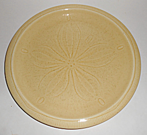 Franciscan Pottery Sculptures Sand Dollar Dinner Plate
