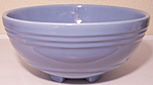 PACIFIC POTTERY HOSTESS WARE LT BLUE FOOTED SALAD BOWL! (Image1)