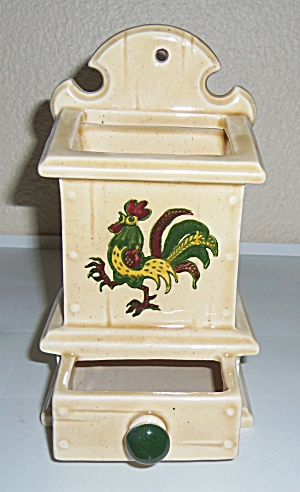METLOX POTTERY CALIFORNIA PROVINCIAL WALL MATCH BOX! (Image1)