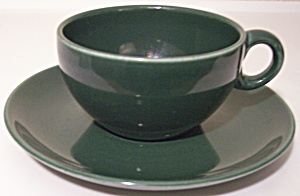 RUSSEL WRIGHT POTTERY IROQUOIS PARSLEY CUP/SAUCER SET! (Image1)