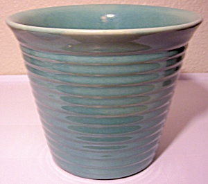 PACIFIC POTTERY EARLY GREEN RING GARDEN FLOWER POT! (Image1)