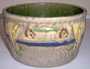 ROSEVILLE POTTERY MOSTIQUE FLOWER POT! (Image1)