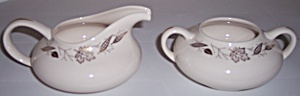 Franciscan Pottery Fine China Gold Leaves Creamer/Sugar (Image1)