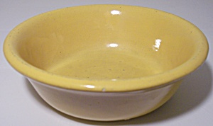 BAUER POTTERY PLAIN WARE YELLOW #1 PUDDING BOWL! (Image1)