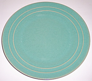 "PACIFIC POTTERY HOSTESS WARE 11"" GREEN PLATE! (Image1)"