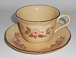 Franciscan Pottery Rosette Cup & Saucer Set
