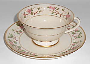 Franciscan Pottery Woodside Fine China Cup & Saucer Set