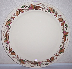 PACIFIC POTTERY HAND DECORATED AUTUMN LEAVES CHOP PLATE (Image1)