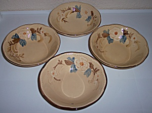 FRANCISCAN POTTERY BOUQUET SET/4 CEREAL BOWLS! (Image1)