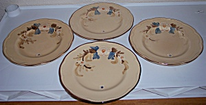 FRANCISCAN POTTERY BOUQUET SET/4 SALAD PLATES! (Image1)