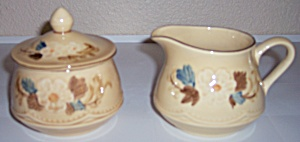 Franciscan Pottery Bouquet Creamer/sugar Set