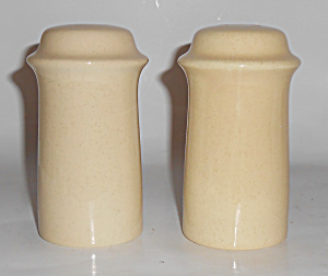 FRANCISCAN POTTERY SCULPTURES SAND PRIMARY SHAKER SET! (Image1)