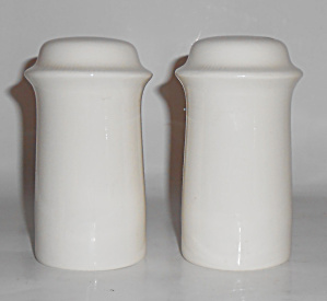 Franciscan Pottery Sculptures Primary White Shaker Set