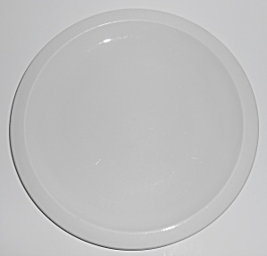 Franciscan Pottery Sculptures Primary White Lunch Plate
