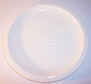 Franciscan Pottery Sculptures White Conch Lunch Plate