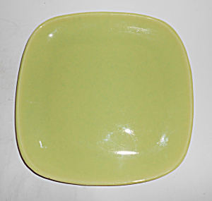 Winfield China Pottery Early Chartreuse Luncheon Plate