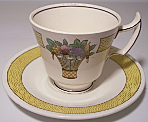 WEDGWOOD CHINA D'RECTOIRE DEMITASSE CUP/SAUCER SET! (Image1)