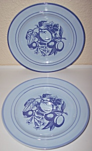 FRANCISCAN POTTERY PAIR EARLY FRUIT LUNCH PLATES! (Image1)