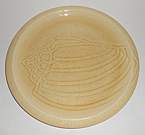 Franciscan Pottery Sculptures Sand Conch Dinner Plate (Image1)