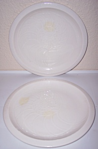Franciscan Pottery Sculptures White Nautilus Dinner Plt